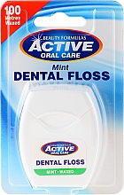 Fragrances, Perfumes, Cosmetics Dental Floss with Mint Scent - Beauty Formulas Active Oral Care Dental Floss Mint Waxed 100m