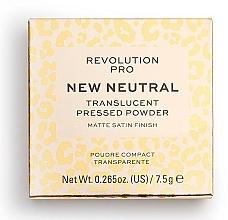 Fragrances, Perfumes, Cosmetics Transparent Face Powder - Revolution Pro New Neutral Translucent Pressed Powder