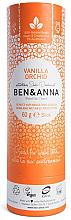 "Fragrances, Perfumes, Cosmetics Soda Deodorant ""Vanilla and Orchid"" (paper tube) - Ben & Anna Natural Soda Deodorant Paper Tube Vanilla Orchid"