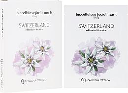 "Fragrances, Perfumes, Cosmetics Sheet Mask ""Switzerland"" - Calluna Medica Switzerland Lifting Biocellulose Facial Mask"