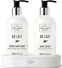 Fragrances, Perfumes, Cosmetics Set - Scottish Fine Soaps Au Lait Hand Set (soap/300ml + h/lot/300ml)