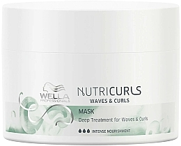 Fragrances, Perfumes, Cosmetics Intensive Nourishing Wavy Hair Mask - Wella Professionals Nutricurls Mask