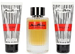 Fragrances, Perfumes, Cosmetics Set - Rochas Moustache (edp/125ml+sh/gel/100ml+b/balm/100ml)