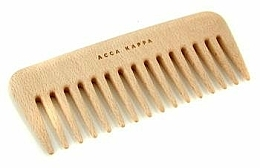 Fragrances, Perfumes, Cosmetics Hair Comb - Acca Kappa Small Wooden Comb