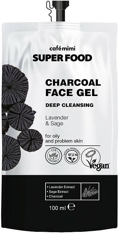 Deep Cleansing Lavender & Sage Charcoal Gel - Cafe Mimi Super Food