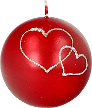 Fragrances, Perfumes, Cosmetics Decorative Candle Red Ball, 8 cm - Artman Forever