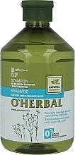 Fragrances, Perfumes, Cosmetics Flax Extract Dry Hair Shampoo - O'Herbal