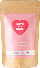 "Fragrances, Perfumes, Cosmetics Coffee Body Scrub ""Juicy Strawberry"" - Love Your Body Peeling"