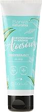 Fragrances, Perfumes, Cosmetics Refreshing Foot Cream Deodorant - Barwa Natural Aloe Deodorant Cream