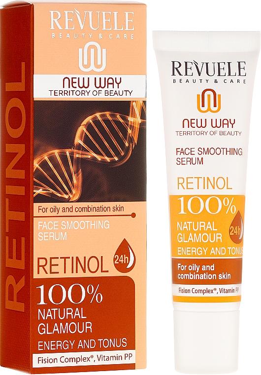 Retinol Face Serum - Revuele Retinol Face Smoothing Serum Moisturise Tone Hydrate Lift Firm Skin