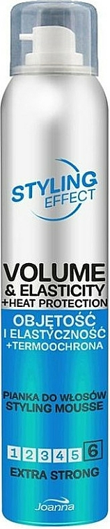 Extra Strong Hold Volume & Elasticity Hair Mousse - Joanna Styling Effect Styling Mousse Extra Strong