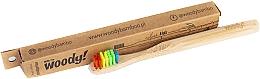 "Fragrances, Perfumes, Cosmetics Kids Bamboo Toothbrush ""Colour"", multi-colored bristles - WoodyBamboo Bamboo Toothbrush Kids Soft/Medium"