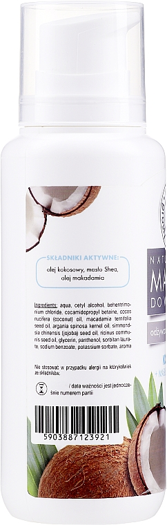 Coconut Hair Mask with Shea Butter & Vegetable Oils - E-Fiore Shea Oil And Oils Coconut Hair Mask — photo N2