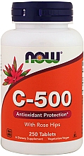 Fragrances, Perfumes, Cosmetics Vitamin C-500 Tablets - Now Foods C-500 With Rose Hips Tablets