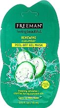 Fragrances, Perfumes, Cosmetics Cleansing Cucumber Face Mask - Freeman Feeling Beautiful Facial Peel-Off Mask Cucumber (mini size)
