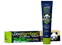 Fragrances, Perfumes, Cosmetics Mint & Fluoride Toothpaste - Woobamboo Mint Chill Toothpaste With Fluoride