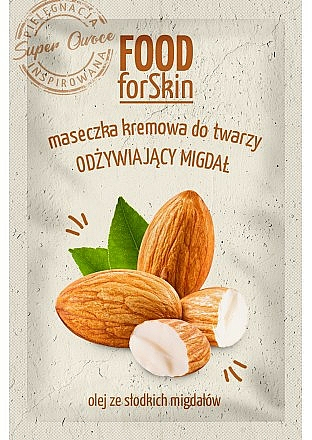 Nourishing Creamy Face Mask with Almond Oil - Marion Food for Skin Cream Mask Nourishing Almond