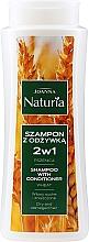 Fragrances, Perfumes, Cosmetics Wheat Shampoo-Conditioner for Dry & Colored Hair - Joanna Naturia Shampoo With Conditioner With Wheat