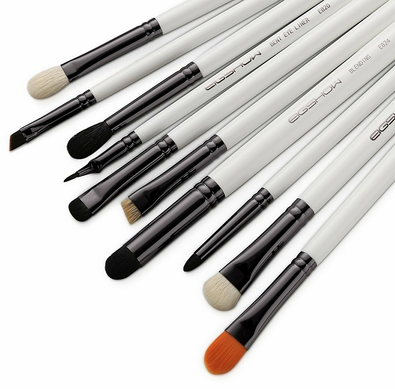 Makeup Brush Set, 10 pcs - Eigshow Professional Eye Brush Light Gun Black Set — photo N2