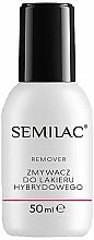 Set - Semilac Hybrid Manicure Set (lamp + n/base/3ml + n/top/3ml + n/polish/3ml + n/cl/50ml + n/aceton/50ml + n/rem/wraps/50pc + n/pads/200pc + n/file/1pc + n/sticks/10pc) — photo N7