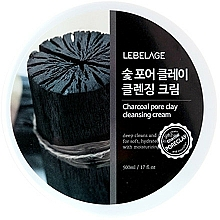 Fragrances, Perfumes, Cosmetics Cleansing Face Cream - Lebelage Charcoal Pore Clay Cleansing Cream
