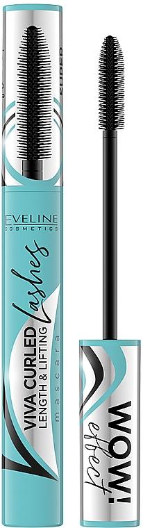 Lash Mascara - Eveline Cosmetics Viva Curled Lashes Mascara Length And Lifting