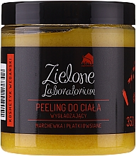 "Fragrances, Perfumes, Cosmetics Smoothing Body Scrub ""Carrots & Oatmeal"" - Zielone Laboratorium"