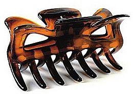 Fragrances, Perfumes, Cosmetics Hair Clip FA-5800, large, amber - Donegal
