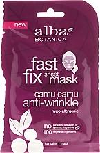 Fragrances, Perfumes, Cosmetics Anti-Aging Sheet Mask - Alba Botanica Fast Fix Sheet Mask Camu Camu Anti-Wrinkle