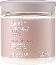 Fragrances, Perfumes, Cosmetics Hair Mask, Moisturizing - Alfaparf Lisse Design Keratin Therapy Rehydrating Mask