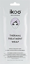 "Fragrances, Perfumes, Cosmetics Thermal Wrap Mask ""Detox & Balance"" - Ikoo Infusions Thermal Treatment Wrap"