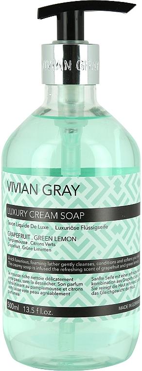 Hand Soap - Vivian Gray Luxury Cream Soap Grapefruit & Green Lemon — photo N1