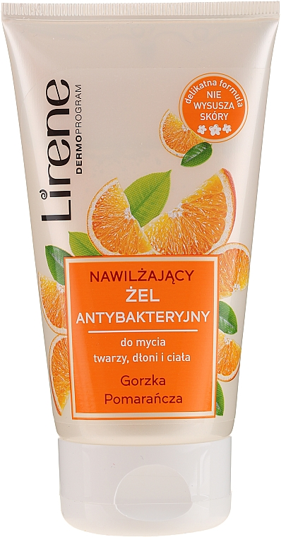 "Hand, face and Body Antibacterial Gel ""Bitter Orange"" - Lirene"