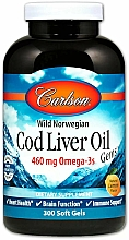 """Fragrances, Perfumes, Cosmetics Dietary Supplement """"Cod Liver Oil"""", 460 mg - Carlson Labs Cod Liver Oil Gems"""