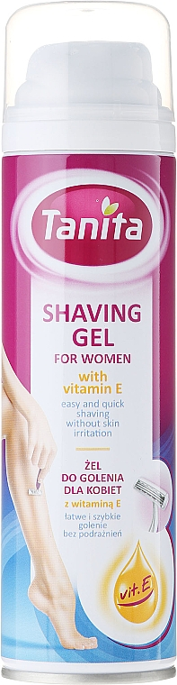 Shaving Gel with Vitamin E - Tanita Body Care Shave Gel For Woman
