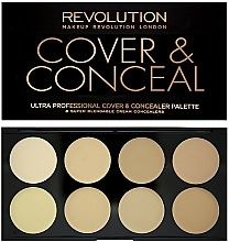 Fragrances, Perfumes, Cosmetics Face Concealer - Makeup Revolution Ultra Cover and Conceal Palette