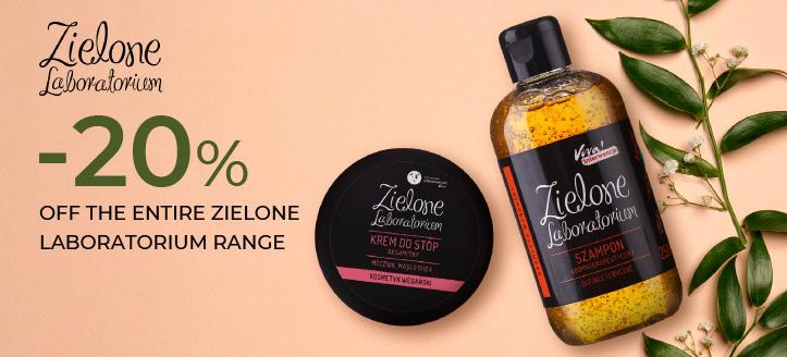 20% off the entire Zielone Laboratorium range.  Prices on the site already include a discount
