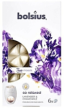 """Fragrances, Perfumes, Cosmetics Scented Wax """"Lavender & Chamomile"""" - Bolsius True Moods So Relaxed Lavender & Chamomile"""