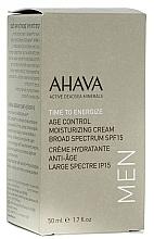 Fragrances, Perfumes, Cosmetics Men Anti-Aging Moisturizing Cream SPF 15 - Ahava Age Control Moisturizing Cream SPF15