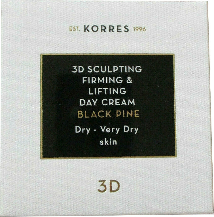 Day Cream for Face - Korres 3D Scuplting, Firming & Lifting Day Cream Dry And Very Dry Skin