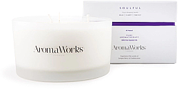 "Fragrances, Perfumes, Cosmetics Scented Candle ""Soulful"", 3-wick - AromaWorks Soulful Candle 3-wick"