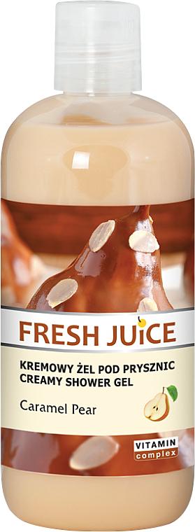 "Shower Cream-Gel ""Caramel Pear"" - Fresh Juice Caramel Pear Creamy Shower Gel"