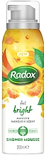 Fragrances, Perfumes, Cosmetics Shower and Shawing Mousse - Radox Feel Bright Mango & Mandarin Scent Shower Mousse