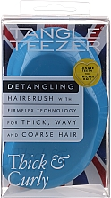 Fragrances, Perfumes, Cosmetics Thick & Curly Hair Brush, blue - Tangle Teezer Thick & Curly Azure Blue