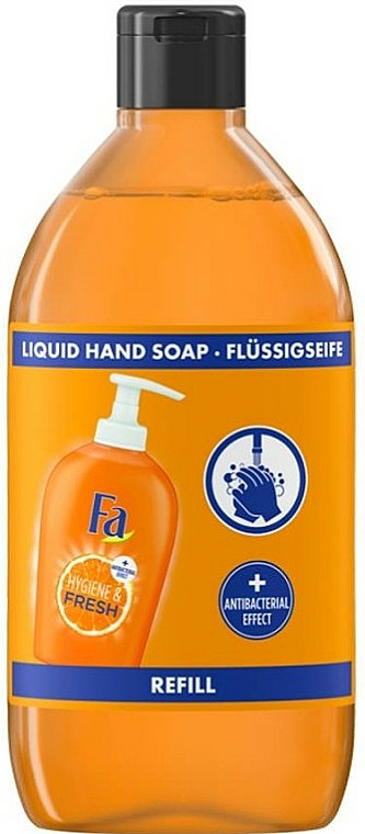 Liquid Soap with Orange Scent and Antibacterial Effect - Fa Hygiene & Fresh Orange Scent Liquid Soap (refill)
