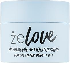 Fragrances, Perfumes, Cosmetics Moisturizing Gel for Face, Neck and Decollete - FlosLek ZeLove Moisturizing Marine Water Bomb 2in1