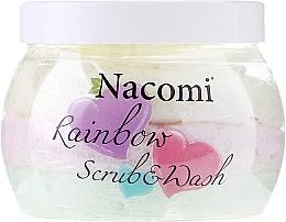 Fragrances, Perfumes, Cosmetics Body Scrub with Watermelon Scent - Nacomi Rainbow Scrub & Wash