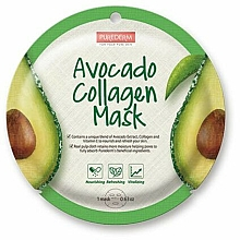Fragrances, Perfumes, Cosmetics Sheet Mask - Purederm Avocado Collagen Mask