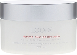Fragrances, Perfumes, Cosmetics Polish Pads with AHA and BHA Acids - LOOkX Derma Skin Polish Pads