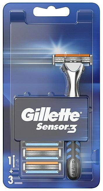 Shaver With 3 Replaceable Cassettes - Gillette Sensor 3